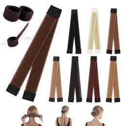$enCountryForm.capitalKeyWord Australia - HOT Fashion Women Synthetic Twist Hair Bun Maker Donut Headband Styling Braid Holder Hair Band Hair Accessory Making Tool