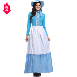 women sexy fairy costume Australia - Halloween Clothing European Style Countryside Wind Woman Pretend Fairy Tales Countryside Wind Parenting Colonization Period Dress