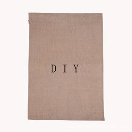 Wholesale DIY Blank Garden Flag Blank Jute Burlap Yard Flag Festival Wedding Party Decoration