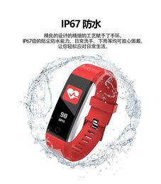 Heart Rate Glasses Australia - ID115 Smart Hand Ring Motometer Step Waterproof Bluetooth Synchronized Information Heart Rate