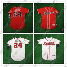 Venta al por mayor de 100% bordado Personalizado EVAN GATTIS Blanco Rojo jerseys para hombre cosidos Personalizar cualquier número de nombre HOMBRE XS-5XL JERSEY NCAA