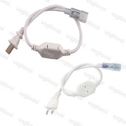 LED-Streifen-Netzstecker breiter Anschluss für Hochspannung 110V / 220V 3528 5050 3014 LED-Streifen-Beleuchtung-Zubehör EU-Stecker US-Plug DHL im Angebot