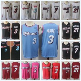 4086d8b3605 Mens Dwyane 3 Wade Miami jersey Heat Hassan 21 Whiteside Goran 7 Dragic  Basketball Jersey DeAaron 5 Fox High Quailty Free Shipping