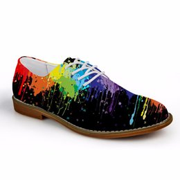 $enCountryForm.capitalKeyWord Australia - Customized Fashion Colorful Printed Men Lace-up Flats Casual Synthetic Leather Leisure Oxford Shoes High Quality Man Zapato