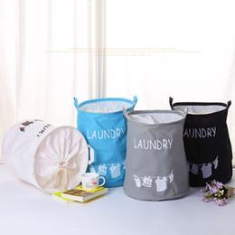 Sugar Coating Australia - Toy Large Storage Bins Folding Cylindric Waterproof of Coating Canvas Fabric Kids Laundry Basket Nursery Hamper Toy Storage