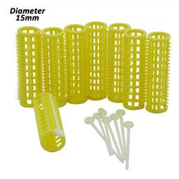 Toptan satış 24 adet / takım 15mm Plastik Diş Saç Rulo ile Sabit Pimleri Diş Barlar Hava Bang Curling Çubuklar Kıvırcıklaştırıcılar Kuaför Styling U1195