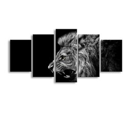 Art Canvas Prints Australia - 5 pieces high-definition print animals sion canvas painting poster and wall art living room picture B-056