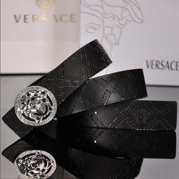$enCountryForm.capitalKeyWord Australia - Designer belt fun skull flat buckle brand men's leather belt luxury leather designer women's leather belt free shipping