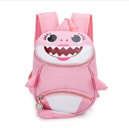 China INS Kids ANTI-LOST Backpack Baby shark Boys Girl Shoulder Bag Rucksack Cartoon Baby Harnes Toddler Safety Walking Strap Backpack 2019A52208 cheap walking backpack suppliers