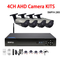 Dvr Channel Cameras Australia - 36pcs infrared Led 5mp Sony335 Waterproof 4CH 4 Channel WIFI AHD CCTV Surveillance Camera DVR Kits FreeShipping