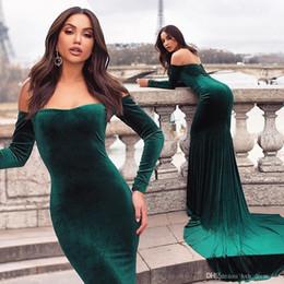 Vintage Dresses Plus Sizes Australia - 2019 New Plus Size Vintage Mermaid Evening Gowns Velvet Long Sleeves Formal prom dresses Backless Party Gowns Custom Abendkleid