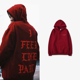 05a72ca52e3d Brand New I Feel Like Pablo Hoodie Hip Hop Street Sport Mens Designer  Hoodies Fashion Pullover Sweatshirt
