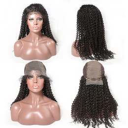Cheap kinky Curly remy hair online shopping - Kinky Curly Wig Brazilian Remy Human Hair by6 Lace Front Wigs With Baby Hair Cheap Lace Frontal Wig For Women Full End