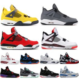 China 4 IV Cool Grey mens Basketball Shoes 4s Fiba World Cup Bugs Bunny Wings Black Gold women Trainers Fast Shipping for sale cheap bunny cup suppliers