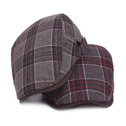beret hat cowboy for man NZ - New Fashion Wool Beret Caps for Men Women Casual Winter Hats Driving Flat Unisex Plaid Berets Hat Adjustable Duckbill Cap