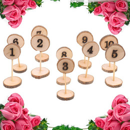 $enCountryForm.capitalKeyWord UK - NEW 10pcs 1-10 Wedding Jewelries Anillos Table Numbers Hanging Wood Slice Wedding Table For Arts Wodden Pendientes Ornaments