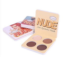 mini palette NZ - Mini Matte Eye Shadow Palette Makeup 4 Colors Long Lasting Eyeshadow Portable Waterproof NUDE Eye Shadow Furrows Under the Eyes Beauty