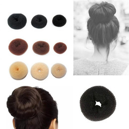 Discount cute hairstyles - 3pcs Hair Donut Bun Maker Cute Form Sponge Hairdressing Accessories Hairstyle Tool For Ladies Women