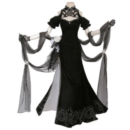China Game Nier Automata Yorha Cosplay Costume 2B Cosplay Anime Women Outfit Halloween Girls Party Black Dress Cheongsam suppliers