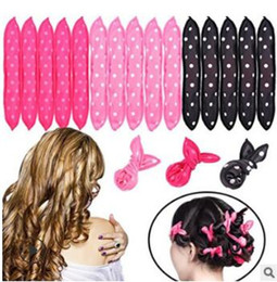 magic sponge hair curlers Australia - Multi Wave Point Sponge Magic Rollers Pear Flower Head No Hurt Hair Fabrics Curlers Hair Care & Styling Tools HA089