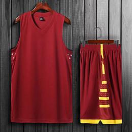 2019 novos conjuntos de uniformes de basquete dos homens de alta qualidade roupas esportivas crianças camisas de basquete universitários conjuntos de fitness diy personalizado conjunto em Promoção
