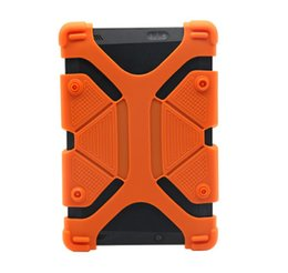 Inch Tablet Protective UK - Universal Soft Silicone Tablet Phone Case Heavy Duty Shockproof Protective Stand Cover For Ipad mini 7 8 9 12 inch Tablet Case