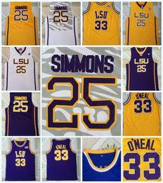 18ac2d1c46b Discount lsu basketball jersey - University Basketball LSU Tigers Jerseys  33 SHAQUILLE ONEAL 25 BEN SIMMON