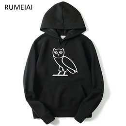 Wholesale spring owls online – design Owl OV Printed Mens Hoodies Spring Autumn Fall Sweatshirts Hooded Fleece Casual Harajuku Pullovers