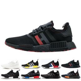 5257ce6a8 Nmd R1 Black Men Australia - 2019 NMD R1 Cheap atmos Bred Running Shoes Tri-