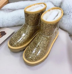 silver latex short Australia - 2019 Hot selling women's fashion short boots winter warm casual flat boot fur inside lady's outdoor quality design gold white size 40 9 #U24