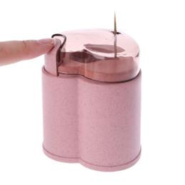 $enCountryForm.capitalKeyWord UK - 1PC Wheat Straw Automatic Toothpick Holder Container Storage ToothpickS Dispenser Box Heart Shape Table Decor