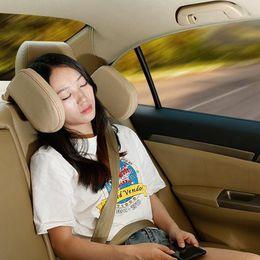 $enCountryForm.capitalKeyWord Australia - Children Soft Cushion Shockproof Adults Retractable PU Leather Neck Pillow Adjustable Auto Support Side Car Seat Headrest Sleep