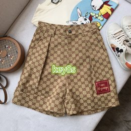 Wholesale 2020 high end womens girls shorts all over letter Patch Jacquard shorts fashion Leisure women Casual shorts Jogging pants