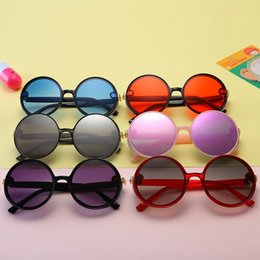 Wayfarer Metal NZ - Kids Sunglass Baby Sunglasses Girls Boys Sun Glasses Beach Supplies UV400 Protective Eyewear PC+Metal Frame Sunshades Glasses Q39