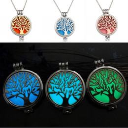 New free Necklace online shopping - Free DHL New Design Charm Necklace Aromatherapy Jewelry Accessory Contracted Tree Of Life Jewelry Essential Oils Diffuser Necklace B174S Y