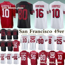 San Francisco jerseys 49er 16 Joe Montana 10 Jimmy Garoppolo 25 Richard  Sherman 80 Jerry Rice jersey 2019 Free shopping 0a5b39fd5