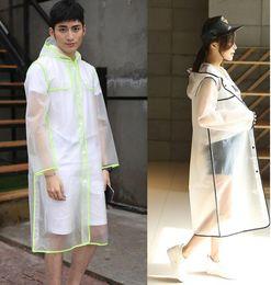 d790eaf170b Women s Transparent Raincoat Plastic big Girls Travel Waterproof Rainwear  Poncho Outdoor Rain Coat 3 color KKA6502