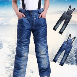 Warm Waterproof Pants Men Australia - Winter Snow Trousers Profession Snowboard Pants Men Outdoor Ski Pants Waterproof Windproof Breathable Warm Ski Clothes S-3XL