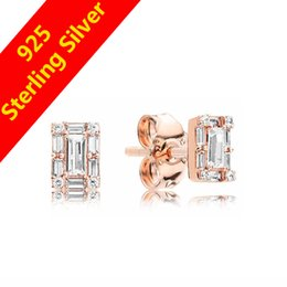 crystal icicles 2019 - Women's Luxury NEW CZ Diamond Icicle Stud Earring Original box for Pandora 925 Silver 18K Rose Gold Earrings cheap
