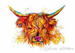 $enCountryForm.capitalKeyWord Australia - Cow Face Abstract Art Animal Nature quality Canvas,Handmade  Print Home Decor Wall Art Oil Painting On Canvas Multi Sizes  Frame Options 145