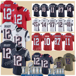 China Brady 87 Rob Gronkowski Super Bowl Patriots jerseys 12 Tom Brady 15 Chris Hogan 11 Julian Edelman 10 Josh Gordon jersey Brandin Cooks supplier super toms suppliers