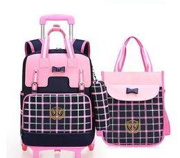 $enCountryForm.capitalKeyWord Australia - School Rolling Backpacks School Trolley Backpack Bags For Girls Kids Wheeled Bag For Children Trolley Backpack On Wheels