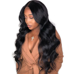 medium wigs for women UK - FREE SHIPPING Deep wave Lace Front Human Hair Wigs For Women Pre Plucked Hairline With Baby Hair150% Brazilian Remy Human Hair