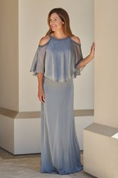 $enCountryForm.capitalKeyWord NZ - 2019 Unique Neck Designer Mother of the Bride Groom Dresses Grey Sheath Cold shoulder with Beaded Sequins Evening Formal Gowns Cheap Long