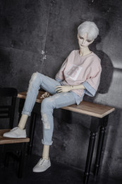 $enCountryForm.capitalKeyWord NZ - BJD doll clothes wear holes torn holes jeans pants 2 colors 1 3 1 4 BJD DD SD MSD YOSD Uncle doll size doll accessories