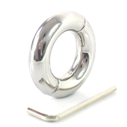$enCountryForm.capitalKeyWord NZ - Male Penis Ring Stainless Steel Scrotum Bondage Weight Ball Stretcher Cockring Cock Rings Adult Sex Toys for Men on The Dick