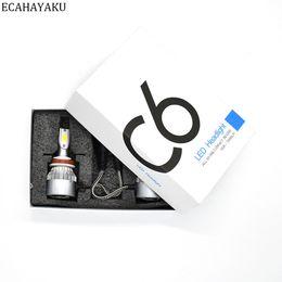 H3 led fog online shopping - 1pair Car Headlights W LM Led Light Bulbs H1 H3 H7 H11 H4 H13 Automobiles Headlamp K Fog Lamps