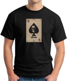 Poker High Cards Australia - Black T-SHIRT ACE of spades Motorhead heavy cards Poker skull Lemmy Kilmister Harajuku Summer 2018 Tshirt Classic Quality High t-shirt