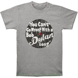 Лето с коротким рукавом хлопок Боб Дилан мужские вы не можете пойти не так футболка серый на Распродаже