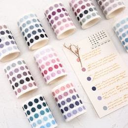 $enCountryForm.capitalKeyWord Australia - 336 Pcs lot Colorful dots Washi Tape Japanese Paper DIY Planner Masking Tape Adhesive Tapes Stickers Decorative Stationery Tapes 2016